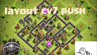 Clash of clans, layout push cv7