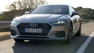 Audi A7 Sportback Driving Video in Grey
