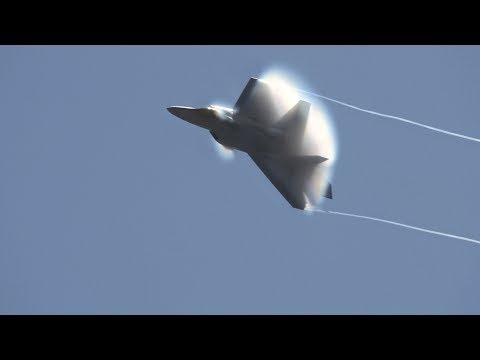 F-22 Raptor Partial Saturday Demo .. California International Airshow 2017 (4K)