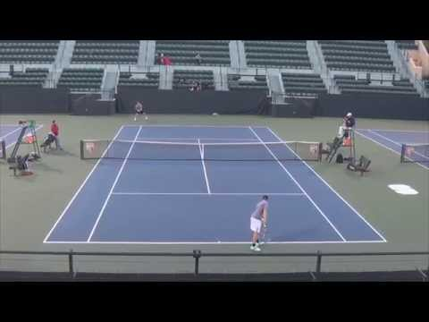 John Morrissey (Stanford) vs.James Wade (UC Davis) | Division I College Tennis Match 2015