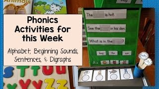 Phonics Activities for This Week (PreK, Kinder, Grade 1)