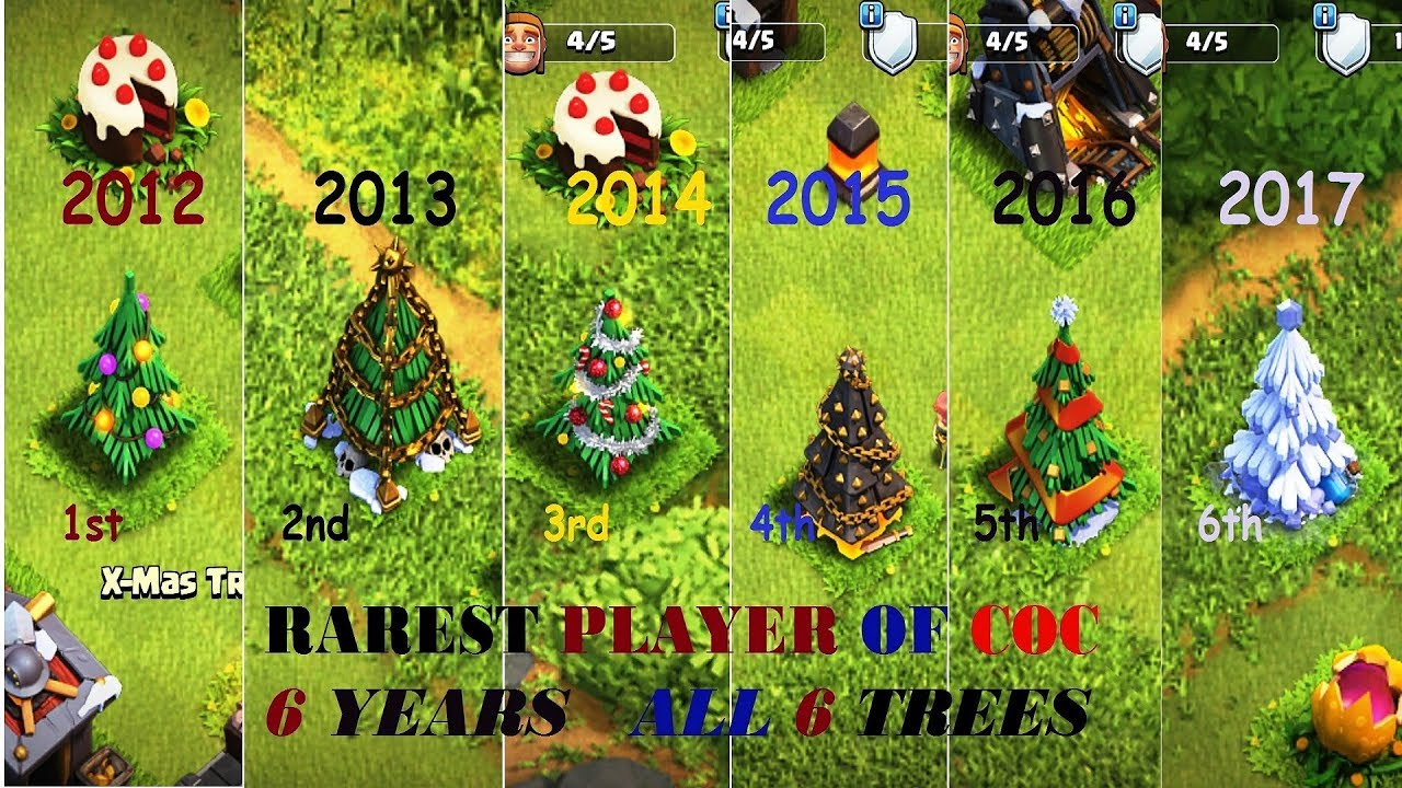 Clash Of Clans Christmas Tree 2019 Clash Of Clans. The player who have all the 5 Christmas tree
