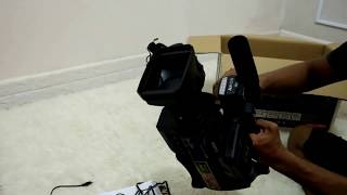 Review & unboxing Sony HXR MC2500 Camcorder