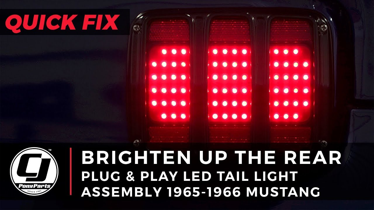 Mustang Install: LED Tail Light Assemblies for your 1965-1966 Mustang