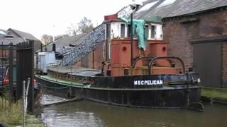 Msc Pelican (preserved Crane Barge)  Ellesmere Port Boat Museum 31st January 2009