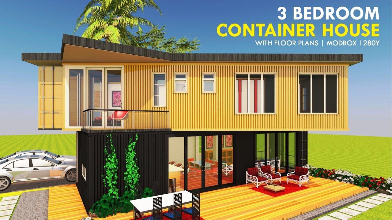 Modular Shipping Container 3 Bedroom Prefab Home Design Floor Plans Modbox 1280y Sheltermode