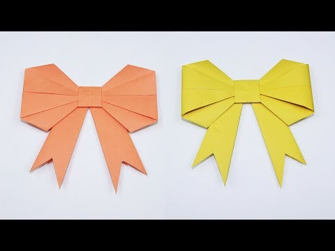 How to Fold an Origami Bow/Ribbon - Paper Bow/Ribbon for Kids