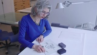 MoMA conservator separates drawings from existing matte boards | AT THE MUSEUM