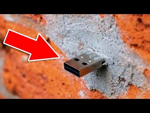 Warning! Do Not Touch Random USB Flash Drives Hanging From The Wall!