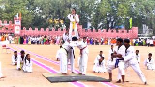 indian taekwondo demo on republic day 26 jan 2017 at nalgonda