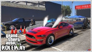 GTA 5 Roleplay - Monster Mustang Drag 'DESTROYS' Bugatti Chiron | RedlineRP #213