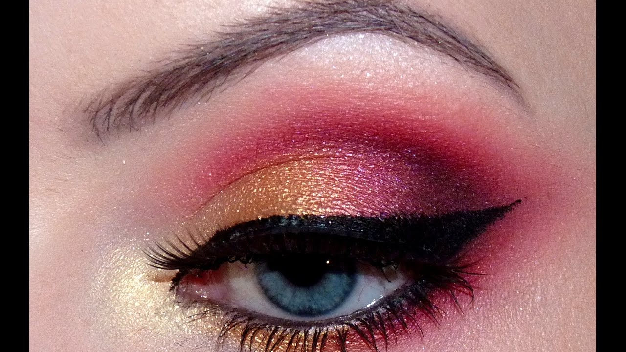 merry christmas red and gold makeup tutorial youtube