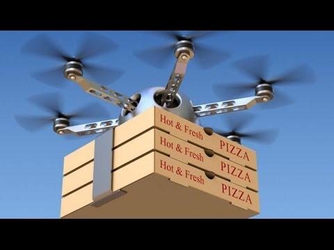 Pizza company offers drone deliveries - BBC Click