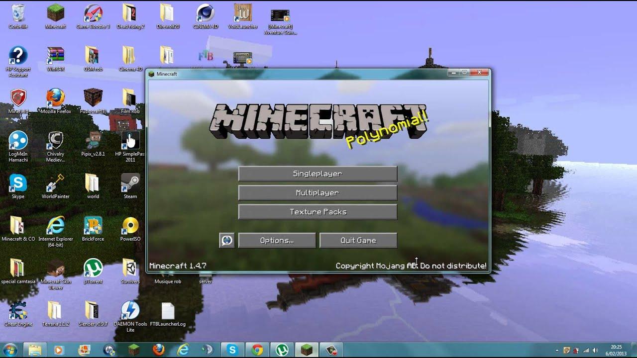 Tutoriel Télécharger et installer un Texture pack Minecraft (1.4.7). - YouTube