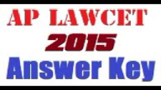 ap lawcet key 2015 answer key and question paper