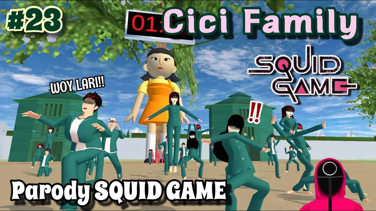 CICI FAMILY [ PARODY SQUID GAME ] #23   SAKURA SCHOOL SIMULATOR