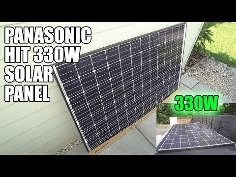 PANASONIC HIT 330W SOLAR PANEL ON THE TRAILER!!!