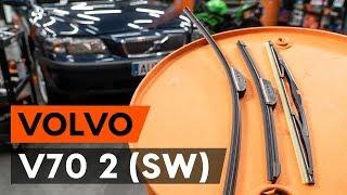 Hur och när byter man Vindrutetorkare fram och bak VOLVO V70 II (SW): videohandledning