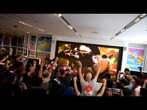 【スマブラSP】バンジョーとカズーイ参戦発表時の海外の反応 【新ファイター】ビデオ編集 Smash bros banjo kazooie reveal reaction compilation