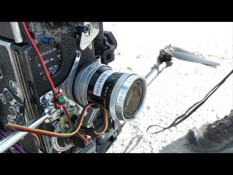 16mm Bolex Film Camera on Drone and Gimbal