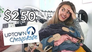 $250 Uptown CheapSkate Try-On Thrift Haul (FALL CLOTHING!)