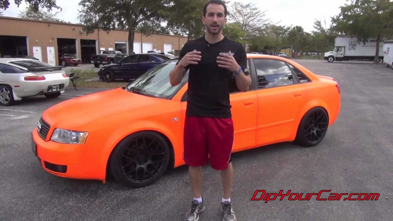 Satin Orange Plasti Dip How To Make A Finish Using Rubber S You