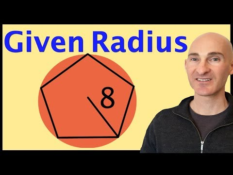 Find The Area Of Regular Polygon Given Radius
