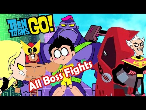 Teeny Titans - A Teen Titans Go! All 6 Final Boss Battles Tournaments Gameplay