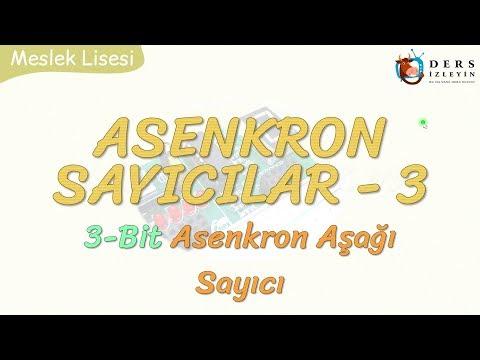 ASENKRON SAYICILAR - 3 / 3 BİT ASENKRON AŞAĞI SAYICI