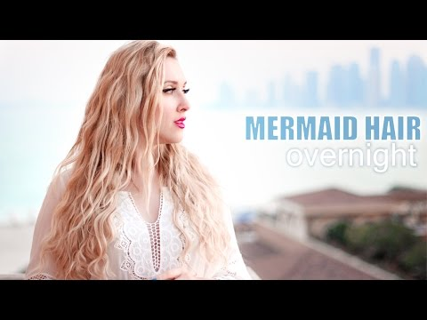 Overnight beach waves/curls WITHOUT HEAT❤ Mermaid/Shakira hair tutorial