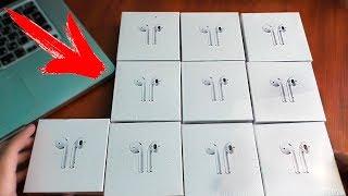 Куча наушников Apple AirPods с Пандао | Посылка с Pandao