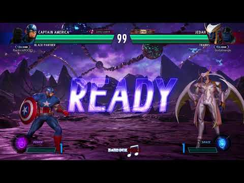 MvCI PC Online: Captain America/Black Panther/Power vs. Jedah/Thanos/Space