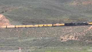 Union Pacific Big Boy #4014 climbs Echo Canyon @ Castle Rock, UT 5/6/2014