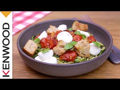 recette-de-spaghettis-de-courgette-au-cooking-chef-gourmet