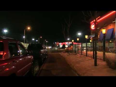 Canon XF100 Low Light Night Shots - Freezing in Ottawa