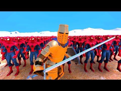ÖRÜMCEK ADAM VS ALTIN ŞÖVALYE 😱 - Ultimate Epic Battle Simulator