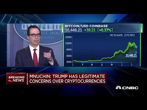Mnuchin: Don't want bad actors using cryptocurrencies