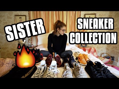 MY SISTER'S SNEAKER COLLECTION!