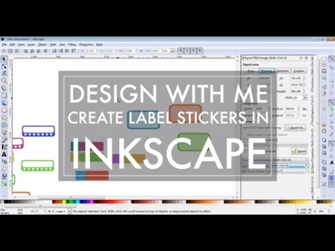 Design with me inkscape 2 create sticker various labels to use with cricut explore or silhouette youtube