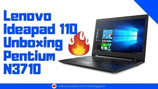 Lenovo Ideapad 110 15iBR Unboxing and Specs Pentium QuadCore N3710 Budget Laptop under 25000 INR