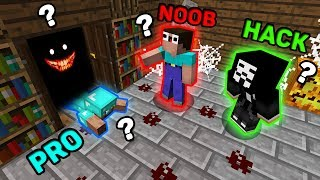 Minecraft NOOB vs PRO vs HACKER : WHO HIDING IN THE CLOSET? Challenge in Minecraft (Animation)