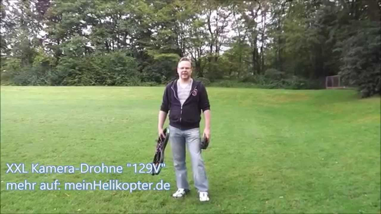 129v kamera drohne quadrocopter helikopter crash test. Black Bedroom Furniture Sets. Home Design Ideas