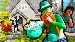 DING DONG DITCH as LEPRECHAUN PRANK! **YOU WON'T BELIEVE what HAPPENED**