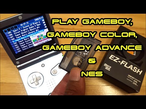 Flash Cart For GameBoy Advance & Nintendo DS Plays GBA, GB, GBC & NES With EZ-FLASH Omega