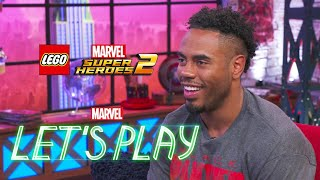 Rashad Jennings & Josh Play LEGO Marvel Super Heroes 2 | Marvel Let