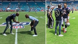 Chad Ochocinco & Charles Woodson LINK UP At Patriots Dolphins Game