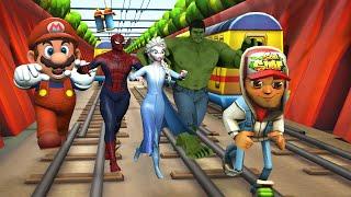 Subway Surfers Best Compilation (Hulk Spiderman Frozen Super Mario Pacman)