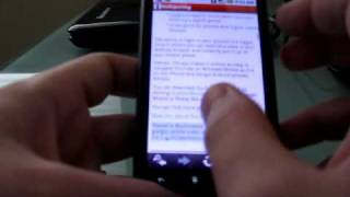 Opera Mini 5 beta web browser for Google Android
