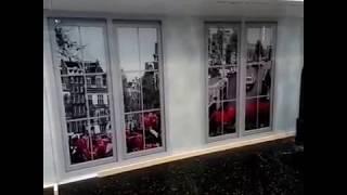 Скинали - с фальш окнами - фотопанель на рабочую стенку кухни - продажа в Днепре от Павлин Арт