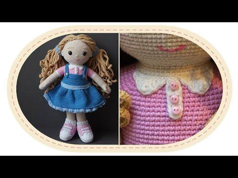 видео: Вязаная кукла крючком Розали, часть 6 (Воротник). crochet doll rosalie, part 6 (collar).